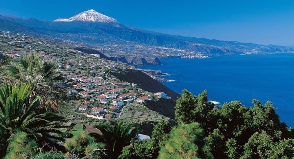 Echo Travel Page A view of Mount Teide from La Orotava valley- Tenerife